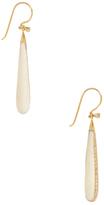 Maiyet 18K Yellow Gold, 1.15 Total Ct. Diamond & Bone Small Teardrop Drop Earrings