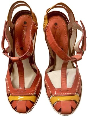Celine Orange Patent leather Sandals