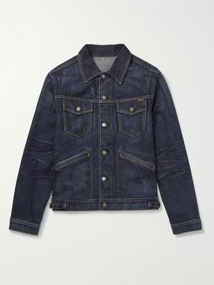 Tom Ford Washed-Denim Trucker Jacket - Men - Blue