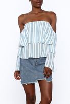 Vintage Havana Tiered Off Shoulder Top