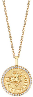 Anita Ko Bespoke Zodiac 18K Yellow Gold Diamond Pendant and Astrology Reading