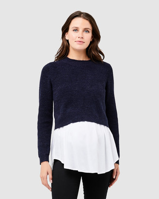 Ripe Maternity Women's Grey Jumpers - Mandy Detachable Nursing Knit - Size One Size, XS at The Iconic