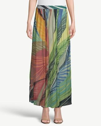 Chico's Tropical-Print Maxi Skirt