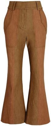 Derek Lam 10 Crosby Nellie Flared High-Rise Pants