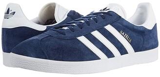 adidas Gazelle Foundation (Collegiate Navy/White/Gold Metallic) Men's Tennis Shoes