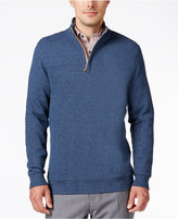 Tasso Elba Men's Big and Tall Honeycomb Textured Quarter-Zip Sweater, Only at Macy's