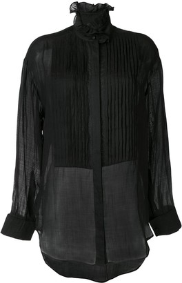 Karen Walker Obsidian pleated shirt