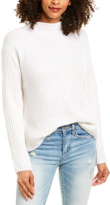 Vince Ribbed Raglan Wool & Cashmere-Blend Sweater