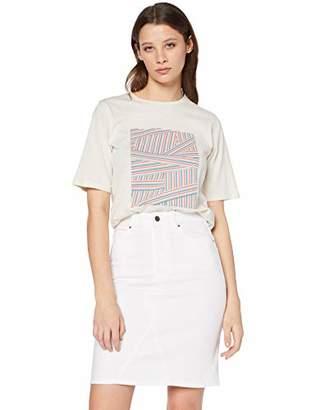 BOSS Women's J90 Louisa Straight Jeans, White 100, (Size: 26)