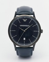 Emporio Armani Renato Watch With Leather Strap AR2479