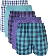 Gildan Men's Woven Boxer Underwear 5 Pack