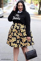 Forever 21 FOREVER 21+ Plus Size No Thanks Sweatshirt