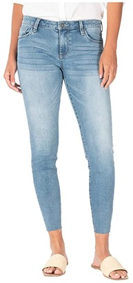 KUT from the Kloth Connie Crop Skinny with Raw Hem in Adaptive/Medium Base Wash (Adaptive/Medium Base Wash) Women's Jeans