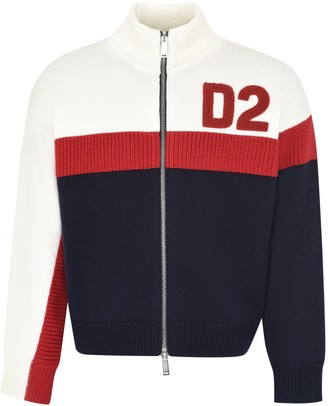 DSQUARED2 Embroidered Wool Sweater