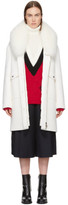 Moncler Gamme Rouge White Down Melville Coat