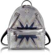 MCM White Flake Small Dual Stark Cyber Studs Backpack