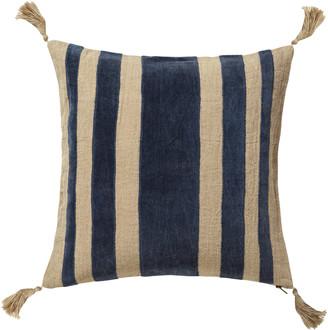 OKA Portloe Stripes Cushion Cover - Prussian Blue