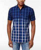 INC International Concepts Men's Ombré Plaid Shirt, Created for Macy's
