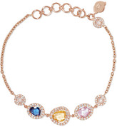 Amrapali 18-karat Gold, Sapphire And Diamond Bracelet - one size