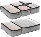eBags Ultralight Packing Cubes Super Packer 5pc Set - Grey