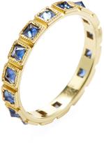 Ila Women's Makayna 14K Yellow Gold & Blue Sapphire Band Ring
