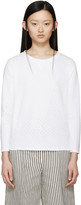 A.P.C. White Perforated Martina Pullover