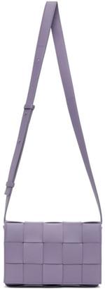 Bottega Veneta Purple Small Intrecciato Cassette Bag