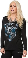 Metal Mulisha Meta Muisha Women's Charm Scoop Neck Graphic T-Shirt-arge