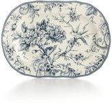 222 Fifth Adelaide Blue Oval Platter