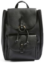 Topshop Bailey Ring Faux Leather Backpack - Black