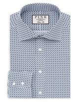 Thomas Pink Benbrick Print Classic Fit Dress Shirt - Bloomingdale's Classic Fit