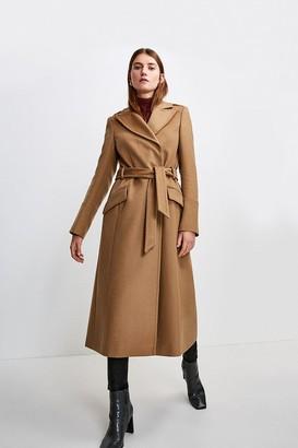 Karen Millen Italian Virgin Wool Luxe Coat