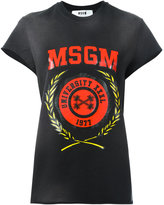 MSGM logo print shortsleeved sweatshirt - women - Cotton - L