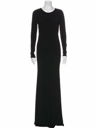 Alice + Olivia Crew Neck Long Dress w/ Tags Black