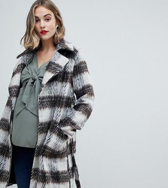 Mama Licious Mamalicious check 2-In-1 coat