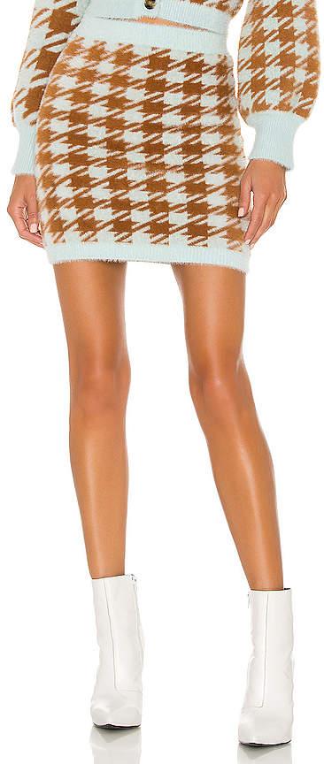 2b7fc653e0 Cher Houndstooth Mini Skirt