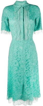 Elisabetta Franchi Embroidered Lace Shirt Dress