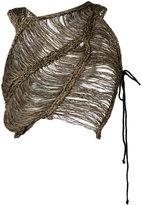 Isabel Benenato woven cropped top - women - Cotton/Linen/Flax - 40