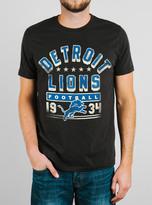 Junk Food Clothing Nfl Detroit Lions Tee-black Wash-m
