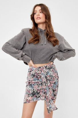 Nasty Gal Womens Bud for You Floral Mini Skirt - Pink - 6