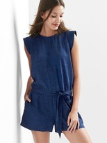 TENCEL denim cap sleeve romper