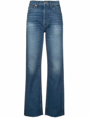 RE/DONE Originals Loose Raw Hem Jeans