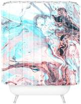 Deny Designs Marbled Saturated Shower Curtain