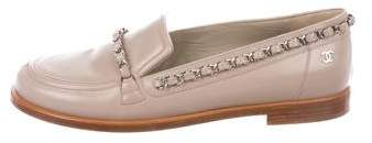 Chanel CC Chain-Link Loafers