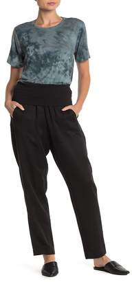 DKNY Foldover Waist Pocket Pants