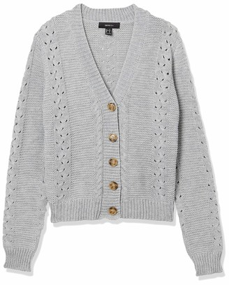 Forever 21 Women's Plus Size Pointelle Button-Front Cardigan