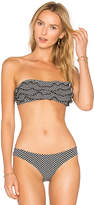 Nightcap Clothing Ruffle Bandeau in Black. - size 3 (also in )