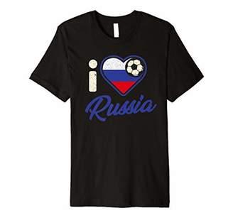 Russian Football Shirt Russia Flag Football Soccer Gift Premium T-Shirt