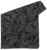 HUGO BOSS Camouflage Cotton Jacquard Scarf Net One Size Black