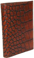 Scully Men's Leather Gusseted Card Case with Croco Finish